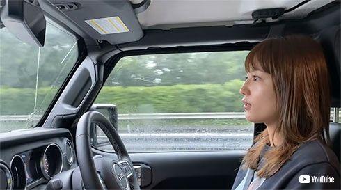 川口春奈 運転 Jeep