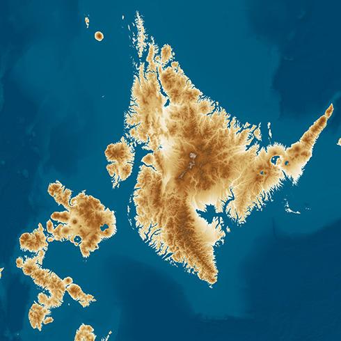 「日本のようで日本でない列島」が出現 海面が100m上がった世界線を描いた地図が想像力を刺激する