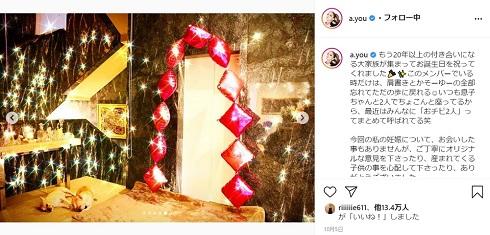 浜崎あゆみ 誕生日 自宅 部屋