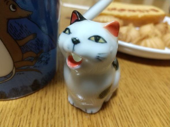 猫 ミルク差し コーヒー オエー