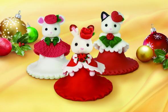 シルバニアファミリーのクリスマスケーキ