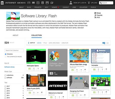 インターネットアーカイブ、Flashコンテンツの保存を発表 プラグインなしでこれからもFlashコンテンツを閲覧できる