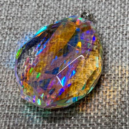 虹の結晶 ダイクロ ガラス ミラー ハンドメイド オブジェ