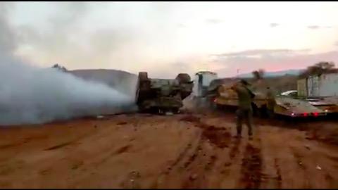 戦車 イスラエル メルカバ 横転