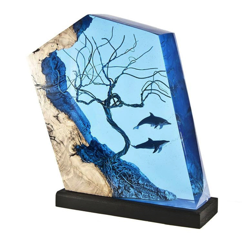海底をイメージした装飾ランプ