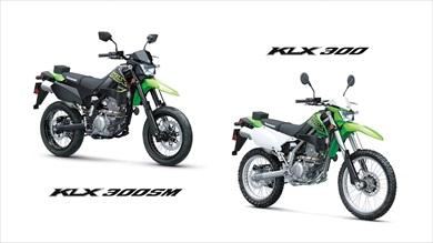 モトクロスタイプのKLX300 モタードタイプのKLX300SM