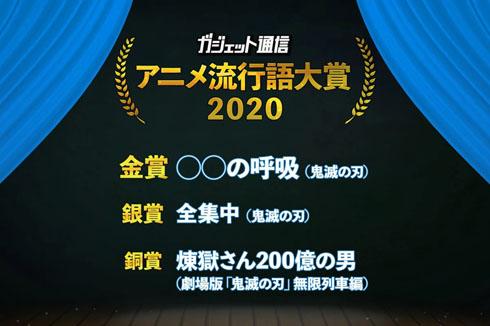 アニメ流行語大賞2020