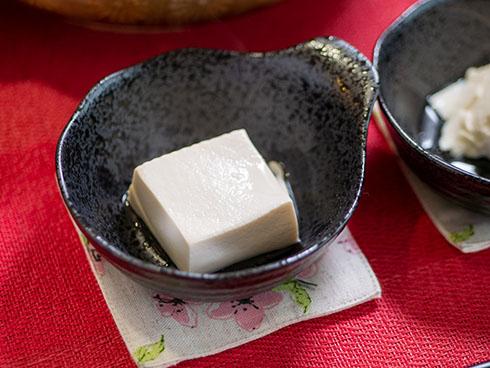 四角い湯豆腐