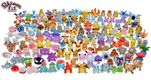 ポケモン 手のひらサイズ ぬいぐるみ Pokemon fit ルビー・サファイア 141匹 追加