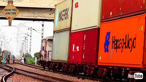 鉄道 海外 インド 貨物列車 パンタグラフ