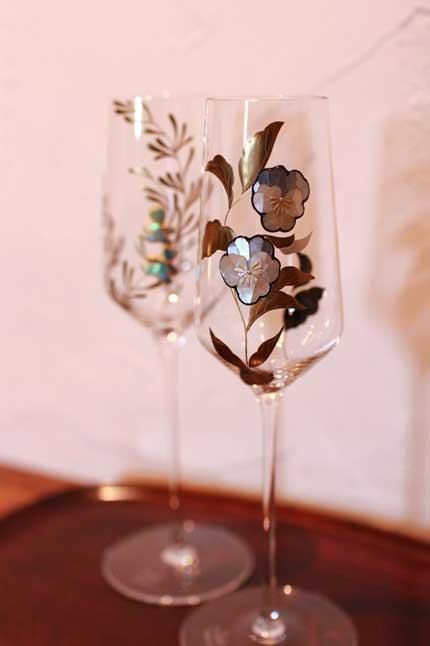 ガラス 蒔絵 螺鈿 きれい 美しい 漆芸