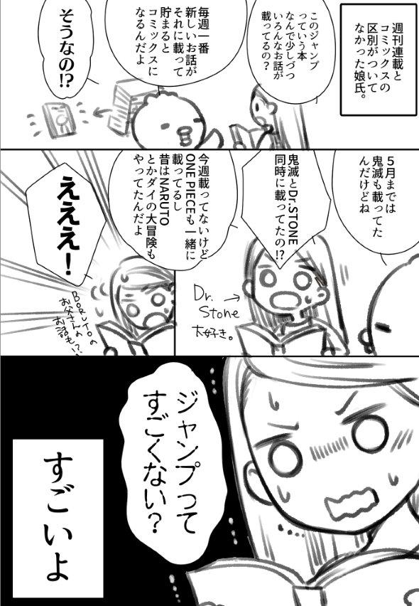 ジャンプ 漫画 twitter たまら 鬼滅の刃 ONE PIECE Dr.STONE