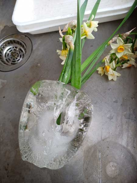 冬 寒さ 花瓶 割れた 水 凍る 膨張
