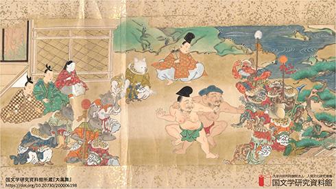 鬼や源氏物語を携えて会議に参加! 国文学研究資料館がWeb会議用の背景画像を提供