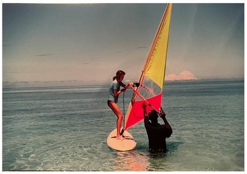 矢田亜希子 ウィンドサーフィン 20年前