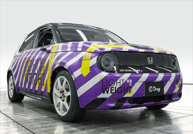 ドラッグレース仕様の電気自動車「e-DRAG(イードラッグ)」(写真:ホンダアクセス)