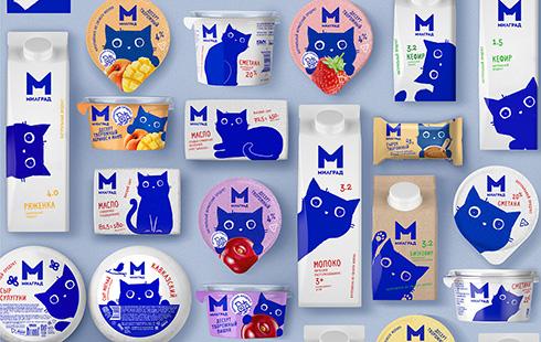 パッケージから顔を出す猫ちゃん ロシアの牛乳がかわいすぎる
