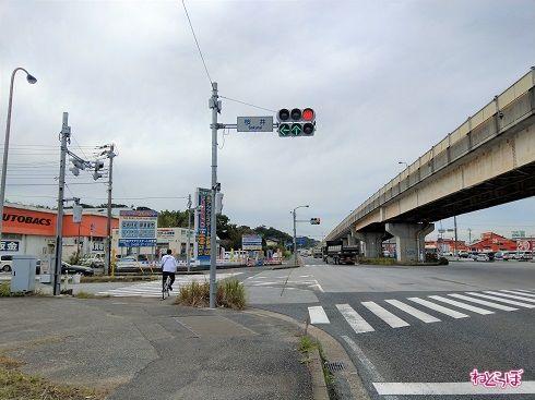 スタート地点の桜井交差点