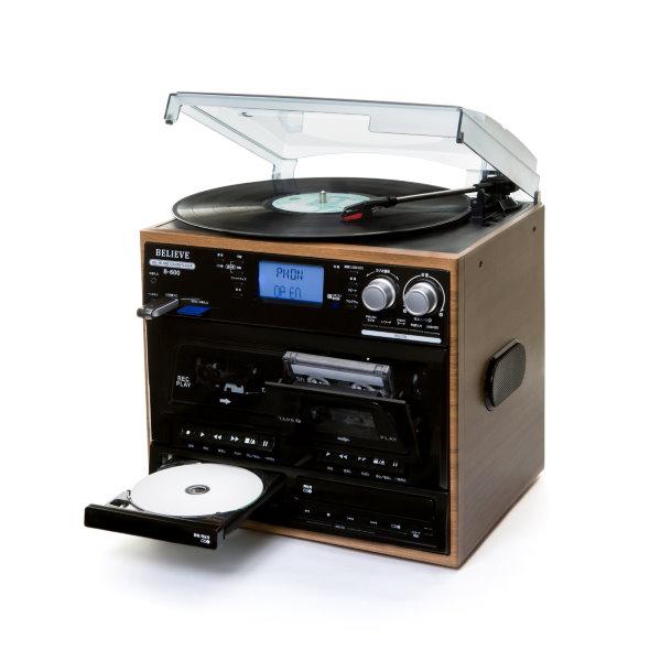 CD カセット レコード SD USB ラジオ 再生 録音