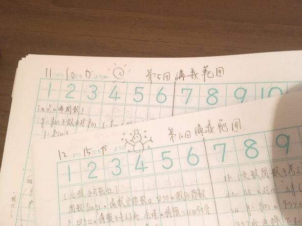 りす さんすうノート 大学 教授 びせき 数学 試験 提出