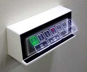 SF トイレ テンキー 非接触 インタフェース 空中浮遊 映像技術 村上開明堂