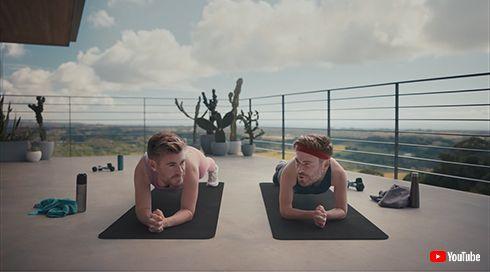 クリス・ヘムズワース クリヘム 動画 CM Centr アプリ 身体 筋肉 トレーニング ワークアウト