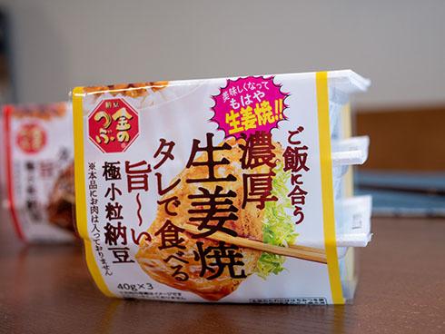 ミツカン 生姜焼納豆のパッケージ