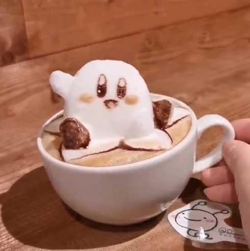 立体 3D ラテアート かわいい 加藤瑠菜 ポケモン ドラえもん カービィ
