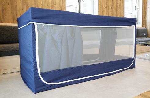 無限にぐうたらしてしまいそうな一人用サイズの秘密基地 サンコーが「家ナカ基地テント」を発売