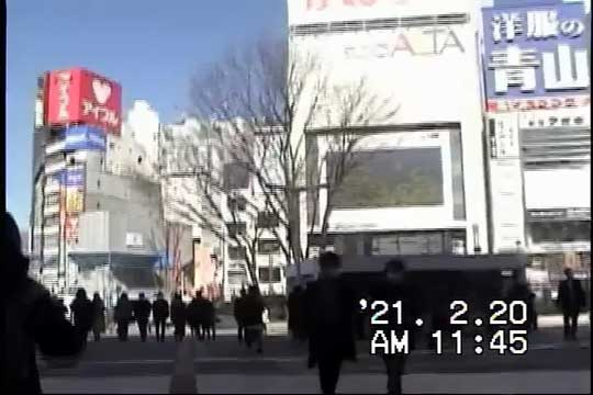 2021年の新宿 2004年のデジタルビデオカメラ 今を撮る 映像 エモい レトロ