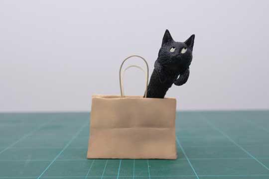 めーちっさい フィギュア 猫 マンガみたいな表情 袋 飛び出す 機動力 カンスト