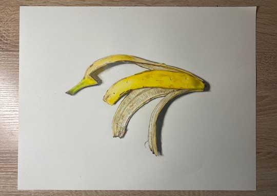 堅あげポテト 絵 リアル 色鉛筆