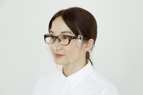 メガネ専用立体透明マスク