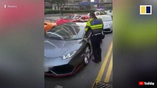 香港 スーパーカー 45台 一斉検挙 ストリートレース