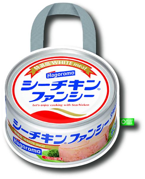 シーチキン缶をまるごと再現! 缶詰デザインのエコバッグがカプセルトイに登場