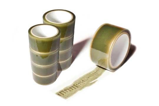 貼れば貼るほど破れるテープ やぶれ デザイン 段ボール ゐずみ