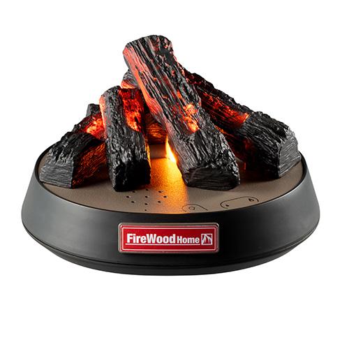 自宅で安全にたき火を楽しめる! LEDライトで炎のゆらぎと音を表現するたき火ガジェット「FireWood Home」を発売