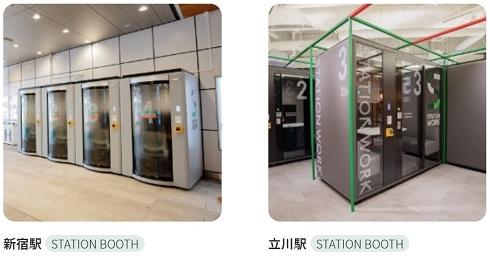 駅ナカシェアオフィス「STATION BOOTH」