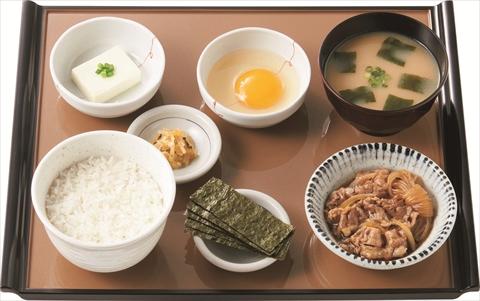 ミニすき焼き朝食