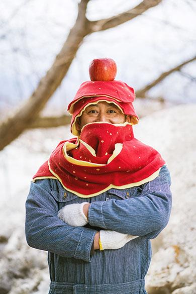 りんごの皮マフラーを着用した人 4人目
