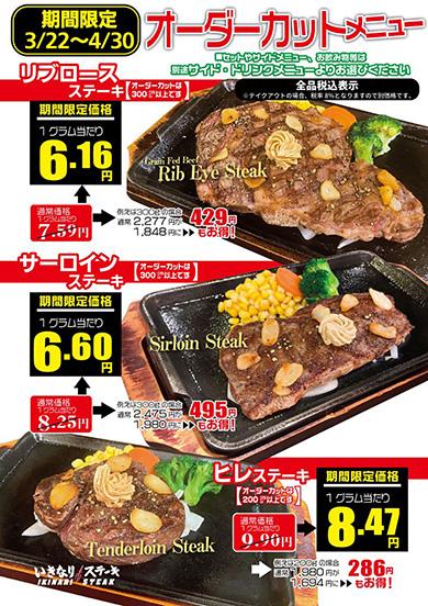 いきなりステーキが値下げ