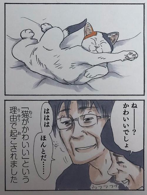 起こされるお父さん2