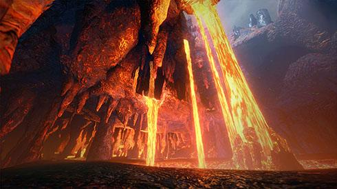 『モンスターハンターライズ』フィールド「溶岩洞」