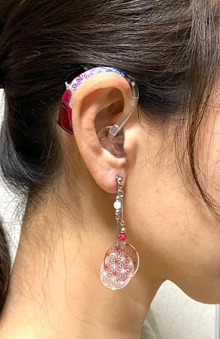 補聴器 イヤリング デコレーション