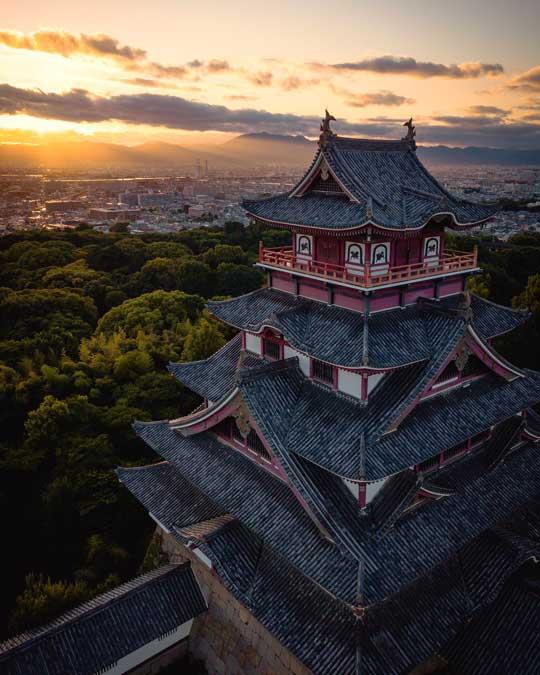城好きのため 城の写真 岐阜城 月 美しい かっこいい