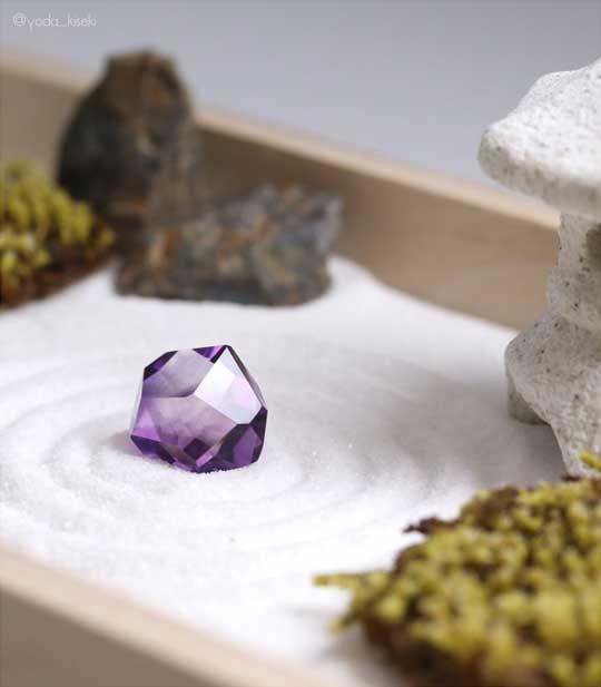 水晶 庭石 日本庭園 ミニ 枯山水 石 宝石 ルース
