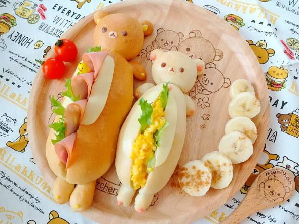 リラックマ 料理 デザート Instagram サンドパン