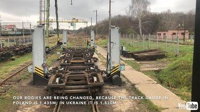 鉄道 海外 YouTube ポーランド ウクライナ 夜行列車