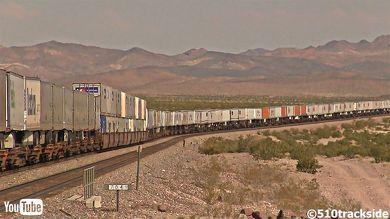 鉄道 海外 YouTube アメリカ 貨物列車 砂漠