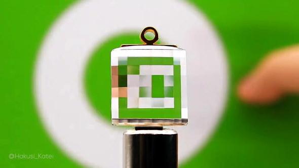 水晶 ピクセルミラー ドット絵